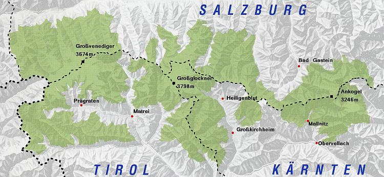 Hohe Tauern Karte.Wanderregionen österreich Np Region Hohe Tauern